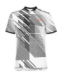 Nike White Court Rf Advantage Printed Dri-fit Tennis T-shirt for men