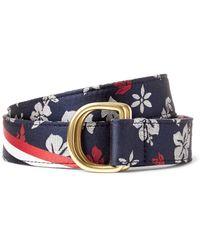 Thom Browne - Blue 3cm Floral-patterned Silk-jacquard Belt for Men - Lyst