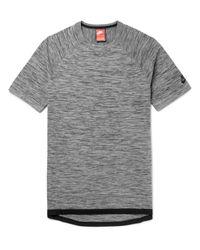 Nike Gray Sportswear Slim-fit Mélange Tech-knit T-shirt for men