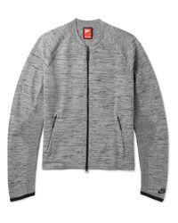 Nike Gray Sportswear Mélange Tech Knit Bomber Jacket for men