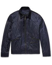 Lanvin Blue Cotton-blend Satin Jacket for men
