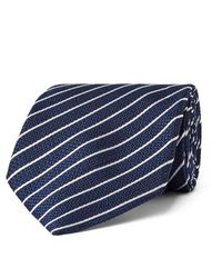 Tom Ford Blue 8cm Striped Woven Silk Tie for men