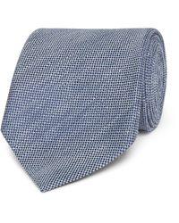 Tom Ford Blue 8cm Slub Linen And Silk-blend Tie for men