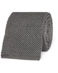 Tom Ford Gray 7.5cm Knitted Silk Tie for men