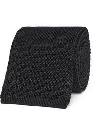 Tom Ford Black 7.5cm Knitted Silk Tie for men