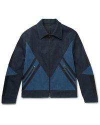 Neil Barrett Blue Panelled Stretch-denim Jacket for men