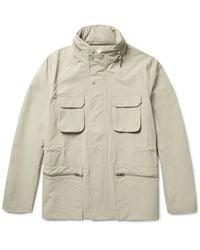 Folk Gray Washed-shell Field Jacket for men