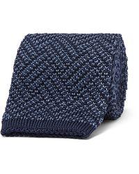 Boglioli | Blue 6cm Herringbone Knitted Silk Tie for Men | Lyst