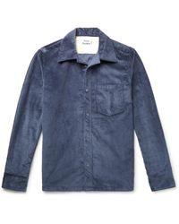 Acne Blue Cotton-corduroy Overshirt for men