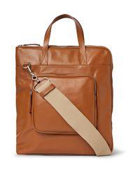 Maison Margiela Brown Leather Tote Bag for men