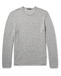 James Perse Gray Cashmere Sweater for men