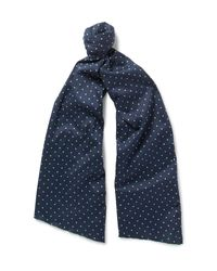 Engineered Garments | Blue Polka-dot Cotton Scarf for Men | Lyst