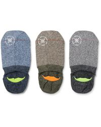 Mr Gray | Blue Three-pack Mélange Stretch-knit No-show Socks for Men | Lyst