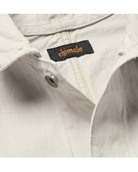 Chimala White Slub Denim Shirt Jacket for men