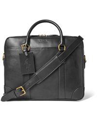 Polo Ralph Lauren - Black Leather Briefcase for Men - Lyst