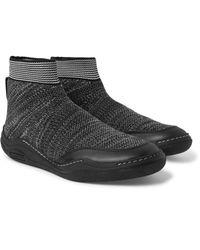Lanvin Black Aqua Sock Trainers for men