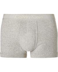 Calvin Klein Gray Mélange Cotton Boxer Briefs for men