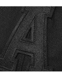 AMI Black Appliquéd Cotton-twill Baseball Cap for men