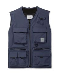 Carhartt WIP Blue Elmwood Tech-canvas Gilet for men