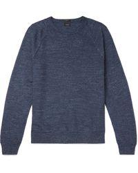 J.Crew - Blue Mélange Cotton Sweater for Men - Lyst