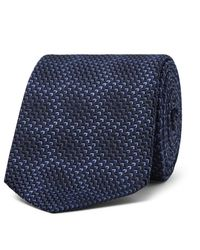 Ermenegildo Zegna | Blue 7cm Silk-jacquard Tie for Men | Lyst