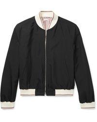Thom Browne Black Selvedge Zip Bomber Jacket for men