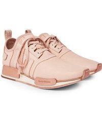 Adidas Originals Pink + Hender Scheme Nmd_r1 Leather Sneakers for men