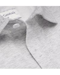 Officine Generale Gray Lipp Mélange Cotton And Silk-blend Jersey Shirt for men