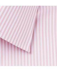 Tom Ford Pink Baton Slim-fit Striped Cotton-poplin Shirt for men