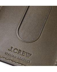 J.Crew - Green Leather Cardholder for Men - Lyst