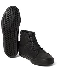 Vans Black Sk8-hi Reissue Snake-effect Leather High-top Sneakers for men