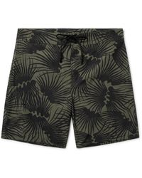 Outerknown Green Happy Evolution Long-length Printed Econyl Swim Shorts for men