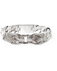 Gucci - Metallic Tiger Sterling Silver Bracelet for Men - Lyst