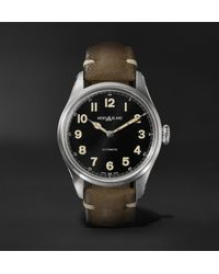Montblanc Natural 1858 Geosphere Limited Edition Automatic 40mm Stainless Steel And Nubuck Watch, Ref. No. 119907 for men