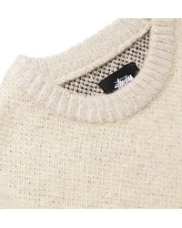 Stussy Natural Brushed Intarsia-knit Sweater for men
