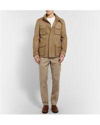 Berluti Brown Suede Field Jacket for men