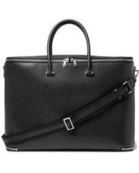 Valextra Black Pebble-grain Leather Holdall for men