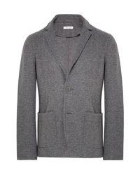 Tomas Maier Gray Anthracite Slim-fit Mélange Jersey Blazer for men