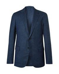 Kingsman Blue Eggsy's Navy Unstructured Birdseye Wool Blazer for men