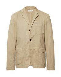 Alex Mill Natural Beige Sack Unstructured Stretch Cotton-twill Blazer for men