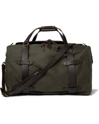 Filson   Green Leather-trimmed Twill Duffle Bag for Men   Lyst