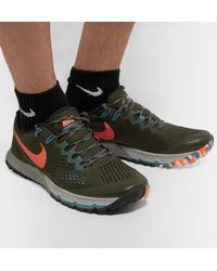 Nike Green Air Zoom Terra Kiger 4 Flymesh Sneakers for men