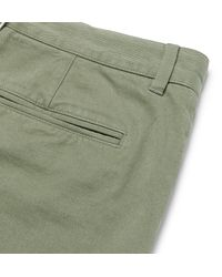 Officine Generale Green Oliver Slim-fit Selvedge Cotton-twill Chinos for men