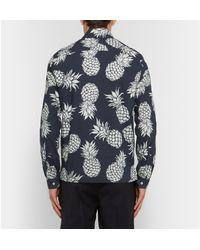 Valentino Black Pinapple Motif Shirt for men