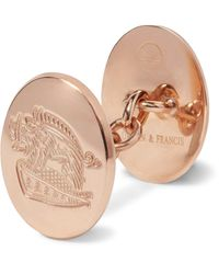 Kingsman Multicolor + Deakin & Francis Rose Gold-plated Sterling Silver Cufflinks for men