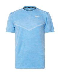 Nike Blue Ultra Techknit Running T-shirt for men