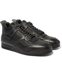 Hender Scheme Black Mip-10 Nubuck-trimmed Leather Sneakers for men