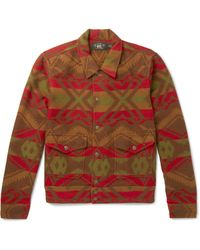 RRL Red Ralston Cotton And Wool-blend Jacquard Shirt Jacket for men