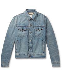Rag & Bone Blue Definitive Embroidered Selvedge Denim Jacket for men