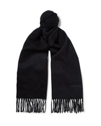 Tom Ford | Blue Double-faced Cashmere Scarf for Men | Lyst